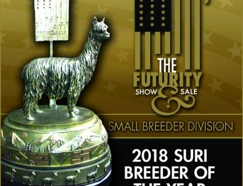 2018 Suri Breeder of the Year Small Farm Division